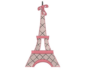 French Eiffel Tower Embroidery Design, Paris Eiffel Tower Machine Embroidery Design no: JGS00035-2