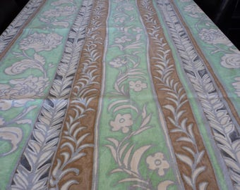 Pair of French vintage cotton window curtains (04265)
