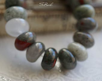 Agate Rondelles, Rondelle Beads, Beads, N2283