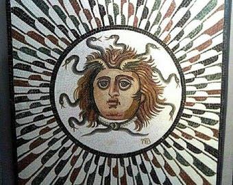 Big Mosaic,  Roman mosaic mosaic wall art, marble mosaic