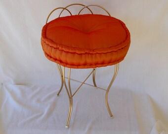 Vintage Wire Vanity Chair