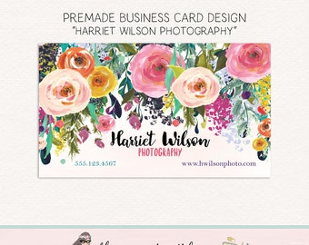 florist business card photography business card beauty business card social card calling card thank you card appointment card stylist card