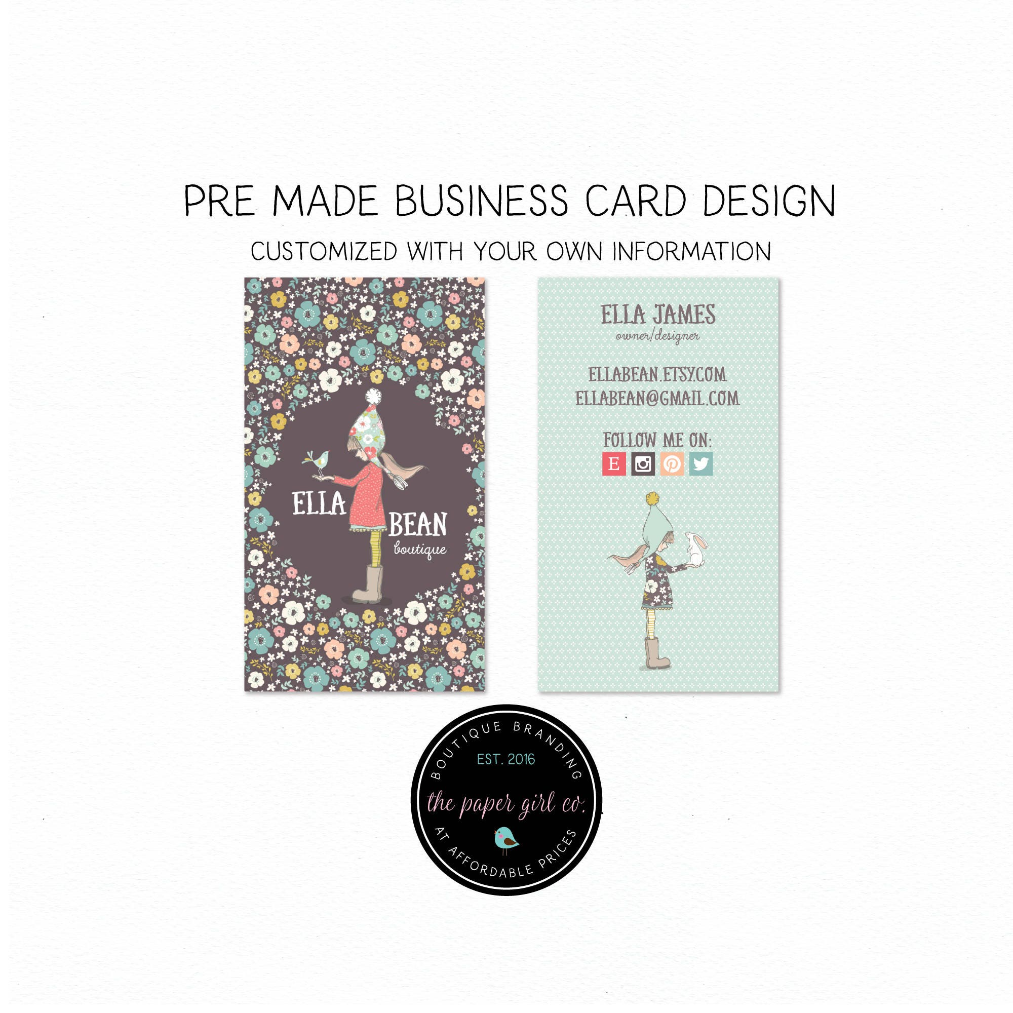 Business card design knitting business card little girl zoom magicingreecefo Image collections