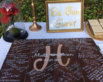 Custom Rustic Wedding Guest Book Alternative Wood Sign
