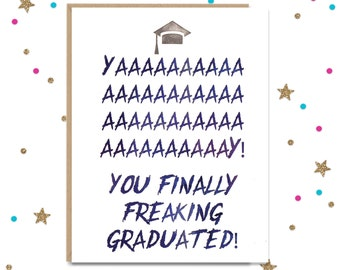 Graduation Card, Card for Graduate, Congratulations Card, Funny Grad Card, Card for Graduation, Congrats Grad, Funny Card for Graduate