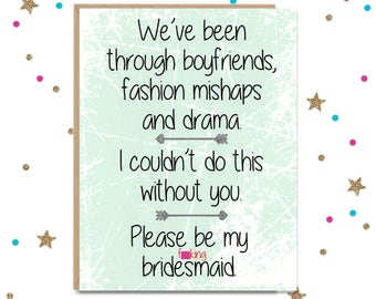 Mature Please be my F'n Bridesmaid, Please be my bridesmaid, Bridesmaid Card, Maid of Honor Card, Will You be my Bridesmaid, Card for Friend