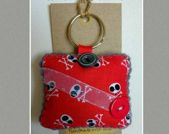 Pirate Skulls Keyring Bag Charm Accessory