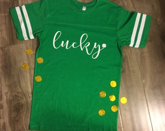 Cursive Lucky Shirt ***FREE SHIPPING***