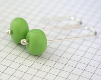 Green Earrings | Resin Jewellery | Sterling Silver & Resin Earrings