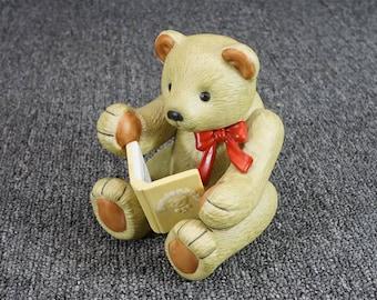 Vintage Gund Gundbear Ceramic Teddy Bear Figurine C. 1984