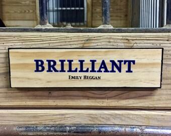 OVERLAY Stall Sign | Custom Stall Plate | Horse Stall Sign | Handmade Stall Sign | Barn Name Plate