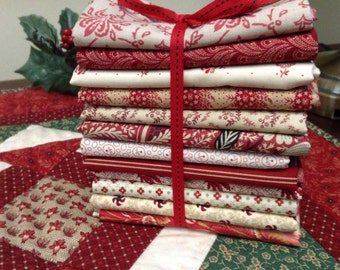 Shades of Red fat quarter bundle