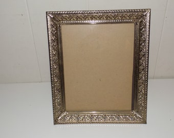 Vintage Metal Gold Colored Picture Frame 12x10