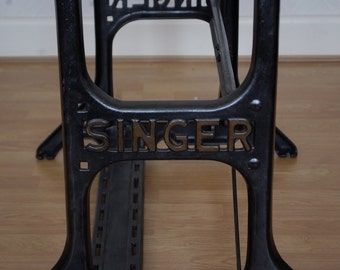 Vintage Singer Heavy Duty Industrial Cast Iron Base for table Cleaned and Waxed