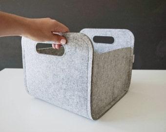Modern Storage Basket / Felt Storage Bin / Household Storage