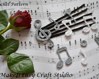 Crochet Pattern Notation : Musical notation Etsy
