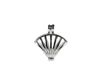 Shell Charm, Charms, Oyster, pearl, pearl cage, anniversary gift, birthday, wedding gift, birthstone, pearl oyster, party favors