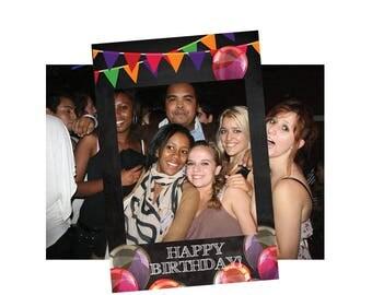birthday photo frame, birthday photo booth props, birthday photo props, photo booth frame, party booth, birthday party props, selfie frame