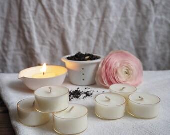 Six Darjeeling & Tea Rose Scented Soy Wax Tealights