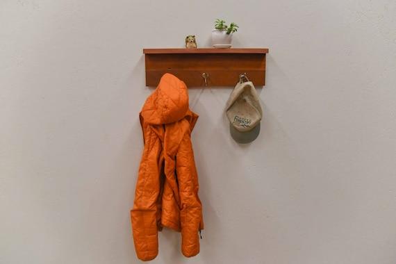 Reclaimed wood coat rack with shelf, Entryway Coat rack, Rustic Coat Rack, Hat Rack, Hanging Coat Rack, Wall Coat Rack,