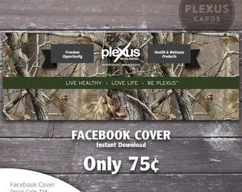 Plexus Facebook Cover Image Camo Design - Instant Download