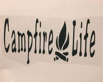 Do It Yourself Iron On Campfire Life decal /Camping Decals/ DIY camping decal