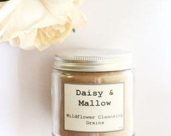 Wildflower Facial Cleansing Grains - sensitive- rose - calendula - chamomile - cornflowers - oats - french red clay - marshmallow root -50g