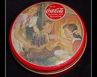 Coca-Cola 1992 Bristol Ware Round Tin Vintage Advertising