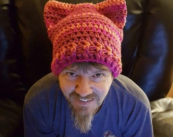 Crochet Pussy Hat / Cat Hat/ Pussyhat