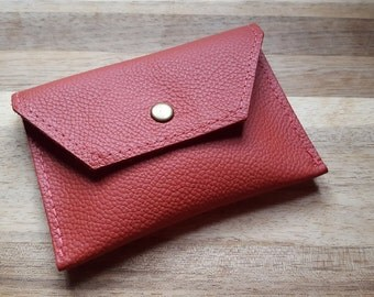 Leather purse - leather wallet - leather coin purse -Peach