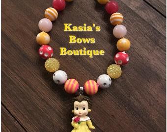 Beauty & The Beast Princess Belle Bubblegum Necklace