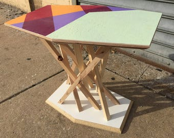 Brodie's Side Table, Reclaimed Wood