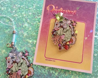 Rudicorns: Bite Me Charm and strap