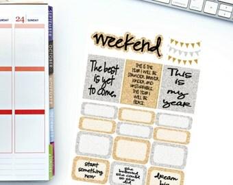Glam Sampler Stickers for Erin Condren Planner, Filofax, Paper Plum, calendar and/or scrapbook!