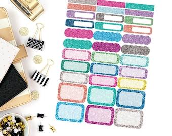 Glitter Functional Sheet Stickers! Perfect for your Erin Condren Life Planner, calendar, Paper Plum, Filofax!