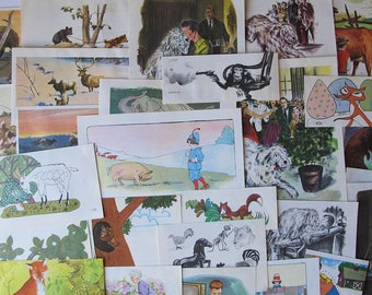 animal ephemera for junk journals, smash books, art journals, collage and altered art