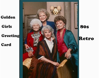 Golden girls greeting cards, 8 package, golden girls cards, 80s, tv, cult tv, 80s tv shows, birthday, christmas