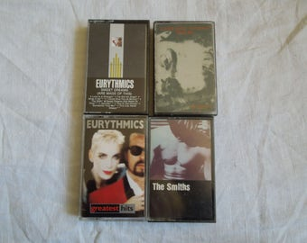 80s Mix Lot of Cassette Tapes The Smiths Eurythmics R.E.M