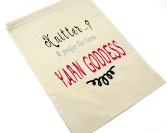 Yarn Goddess Drawstring Project Bag for Knitters