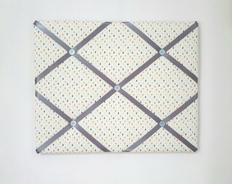 Polka Dot French Memo Board - Polka Dot Pin Board - Polka Dot Vision Board - Polka Dot Memory Board - Dot Message Board - Dot Bulletin Board