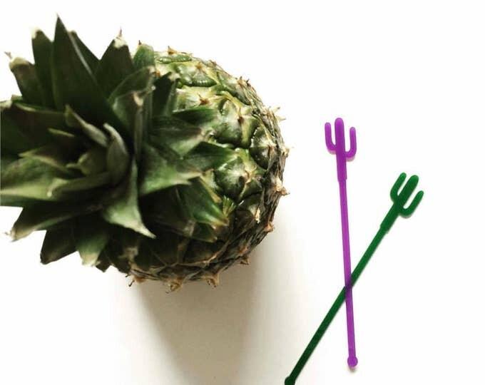Featured listing image: Cactus stirrer,cacti,desert,Palm Springs,swizzle Sticks,Drink Stirrer,Cocktail Sticks,Weddings,Summer, Acrylic,Laser Cut, Bar Decor, 50 Pack