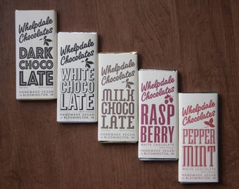 Vegan chocolate bar variety pack