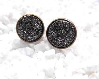 Earrings Druzy Stud Earrings
