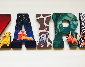 Lion King Letters - Home Decor - Party Decorations - Wood letters - Custom Letters