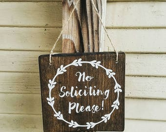 No soliciting please, no soliciting, home decor, rustic