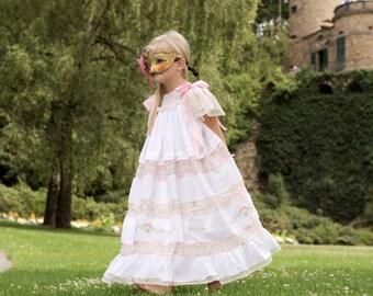 White and Ecru Bijoux Heirloom Portrait, Wedding, Easter dress
