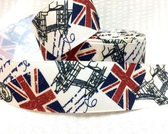 British Union Jack London themed Satin Ribbon