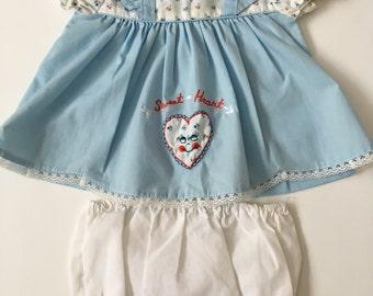 Vintage Sweetheart Set 6-12 and 12-18 months