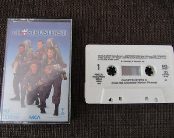 Ghostbusters II Movie Soundtrack Cassette Tape 1989 Free Shipping