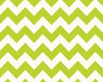 Riley Blake-Medium Chevron-GREEN-sold by the yard